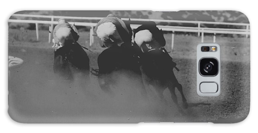 Horse Galaxy S8 Case featuring the photograph Dust And Butts by Kathy McClure