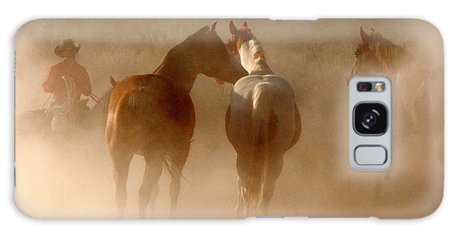 Dust Galaxy S8 Case featuring the photograph Dusty Roundup by JOANNE McCubrey