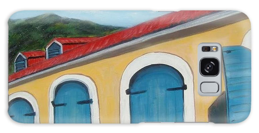Doors Galaxy S8 Case featuring the painting Dutch Doors Of St. Thomas by Laurie Morgan