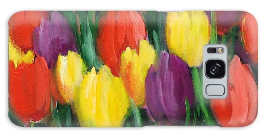 Flowers Galaxy S8 Case featuring the painting Dutch Tulips by Sally Seago