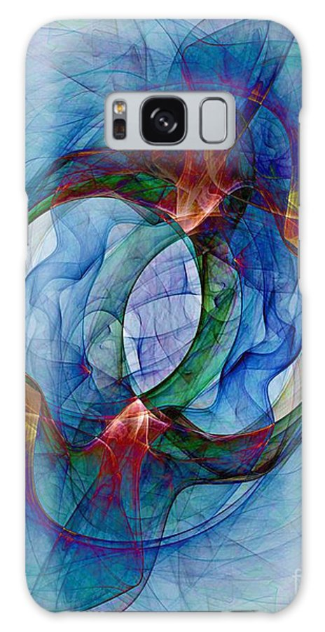 Dye Galaxy S8 Case featuring the digital art Dye In Solvent by Ron Bissett