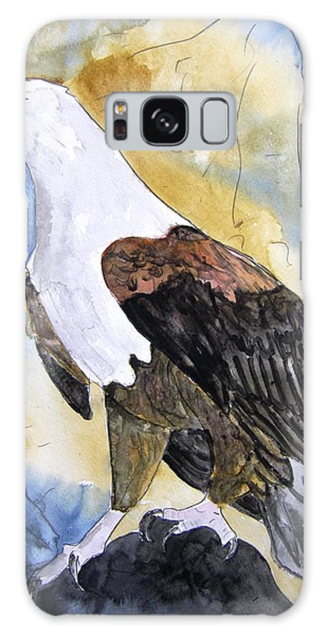 Realistic Galaxy S8 Case featuring the painting Eagle by Derek Mccrea