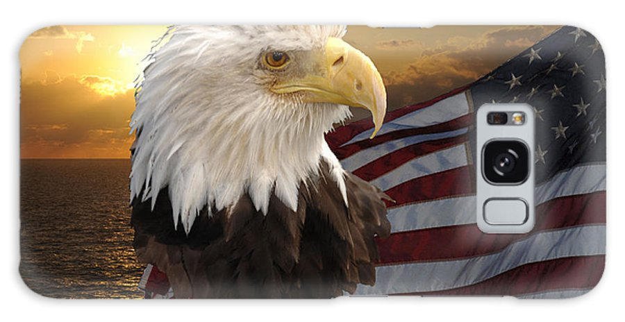 Us Flag Eagle Galaxy S8 Case featuring the photograph Eagle Flag I by Keith Lovejoy