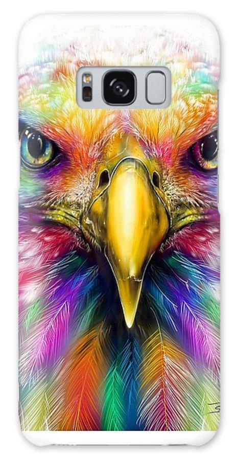 Eagle Head Galaxy Case featuring the digital art Eagle Head by Shaff Oceans
