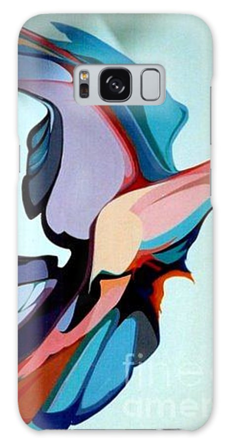 Birds Galaxy S8 Case featuring the painting Early Bird 10 by Marlene Burns
