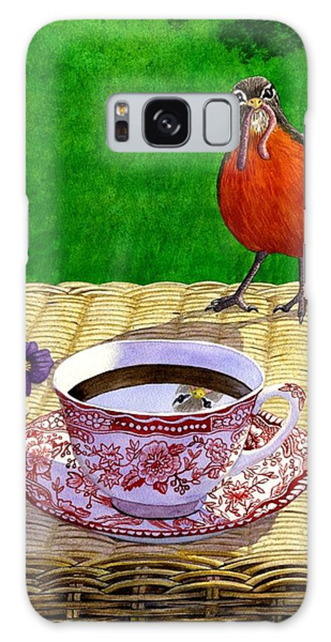 Robin Galaxy S8 Case featuring the painting Early Bird by Catherine G McElroy