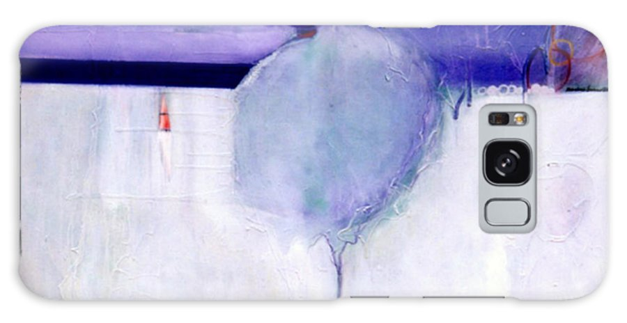 Abstract Galaxy Case featuring the painting Early Blob 1 Optic Illusion by Marlene Burns