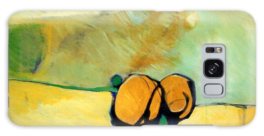 Abstract Galaxy Case featuring the painting Early Blob 2 Jump Rope by Marlene Burns