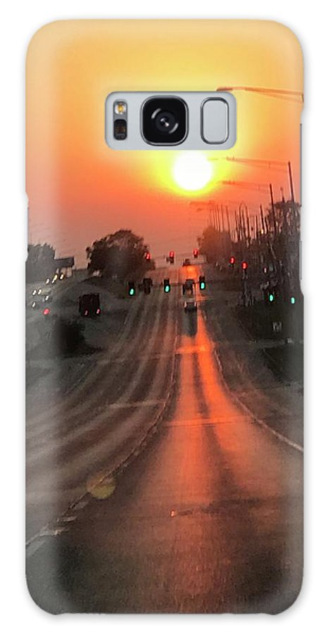 Dawn Galaxy S8 Case featuring the photograph Early Morning Commute by Mandy Zinger