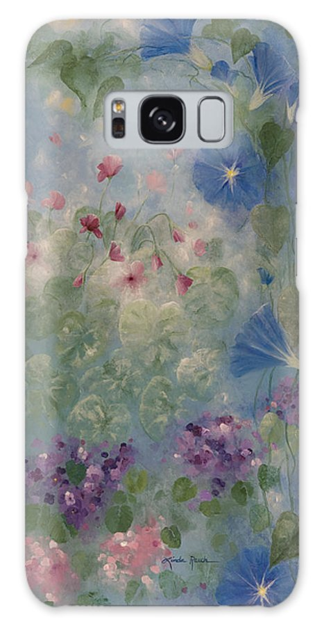 Floral Galaxy S8 Case featuring the painting Early Morning Glory by Linda Rauch