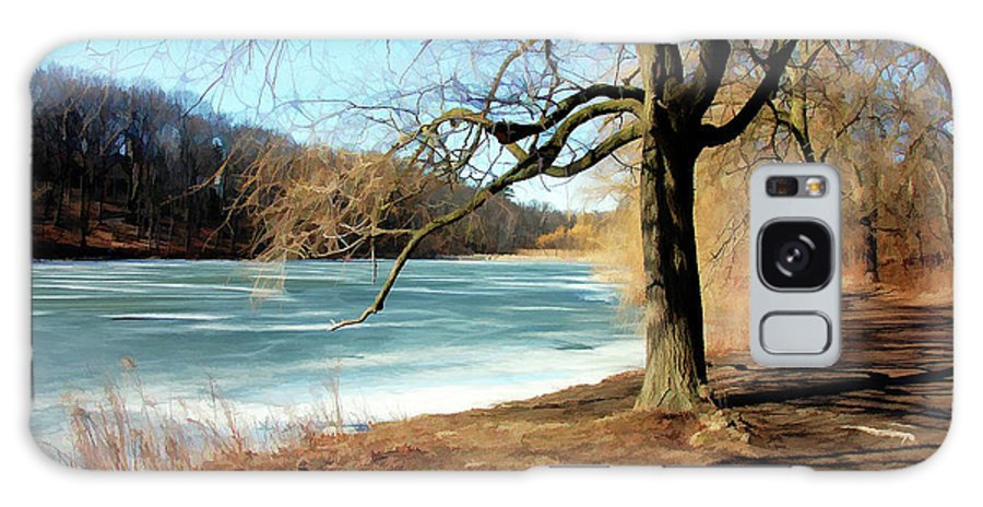 Parks Galaxy S8 Case featuring the painting Early Spring In The Park by Elaine Manley