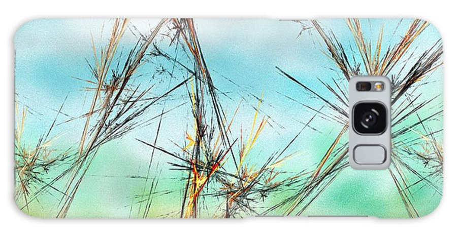 Digital Painting Galaxy S8 Case featuring the digital art Early Spring Twigs by David Lane