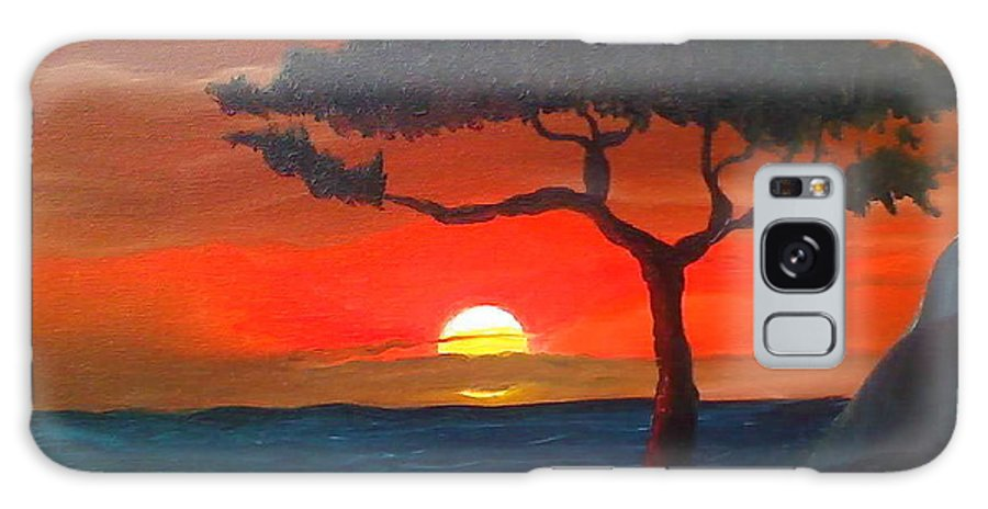 Africa! Galaxy S8 Case featuring the painting East African Sunset by Portland Art Creations