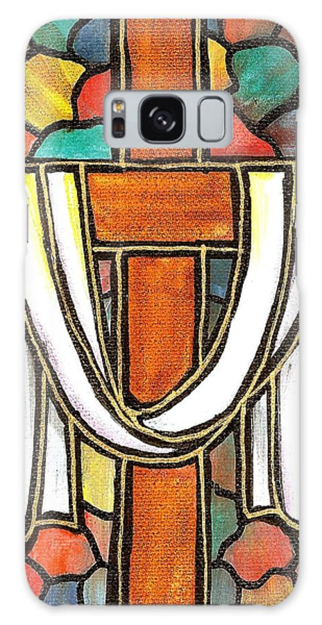 Easter Galaxy Case featuring the painting Easter Cross 6 by Jim Harris