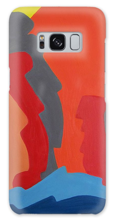 Easter Island. Michael Tmad Finney Galaxy S8 Case featuring the painting Easter Island by Michael TMAD Finney AKA MTEE