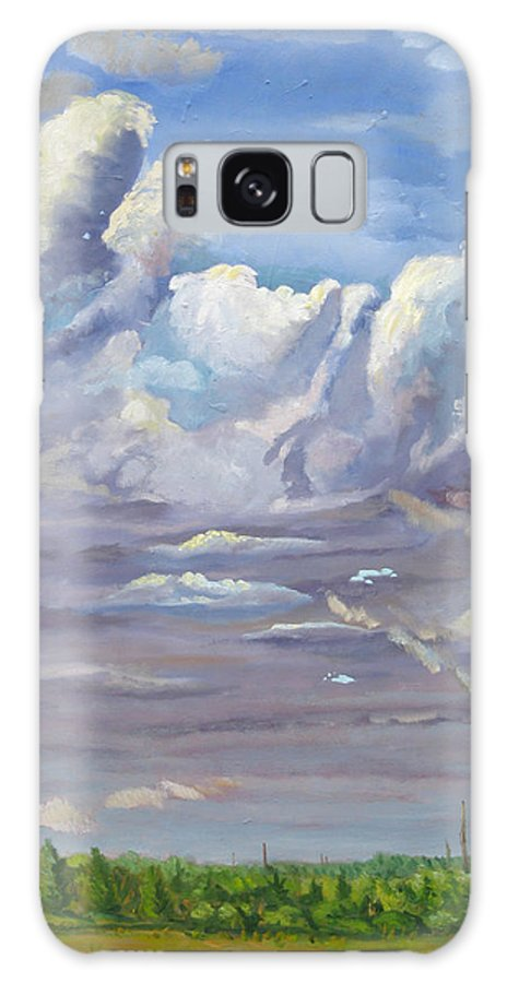 Clouds Galaxy S8 Case featuring the painting Eastern Flagler County Cloud Series IIi by D T LaVercombe