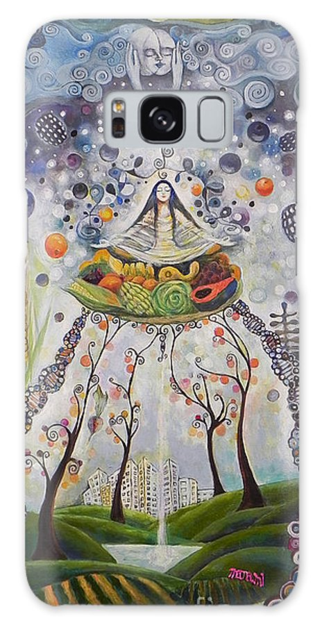 Eat Galaxy S8 Case featuring the painting Eating And Spiritual by Manami Lingerfelt
