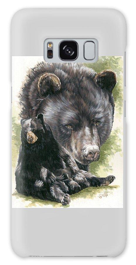 Black Bear Galaxy S8 Case featuring the mixed media Ebony by Barbara Keith