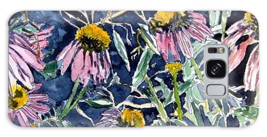 Echinacea Galaxy S8 Case featuring the painting Echinacea Cone Flower Art by Derek Mccrea