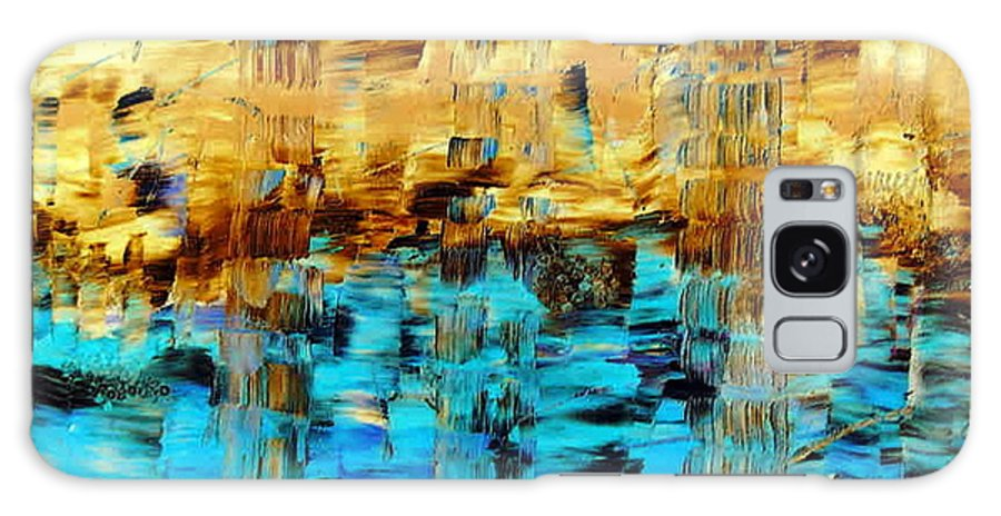 Echos Of Silence Galaxy S8 Case featuring the painting Echos Of Silence by Dawn Hough Sebaugh