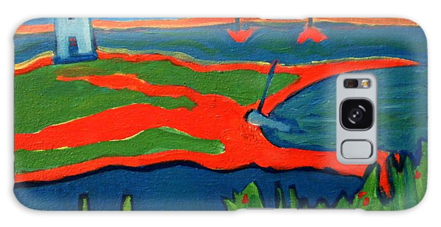 Edgartown Galaxy S8 Case featuring the painting Edgartown Light by Debra Bretton Robinson