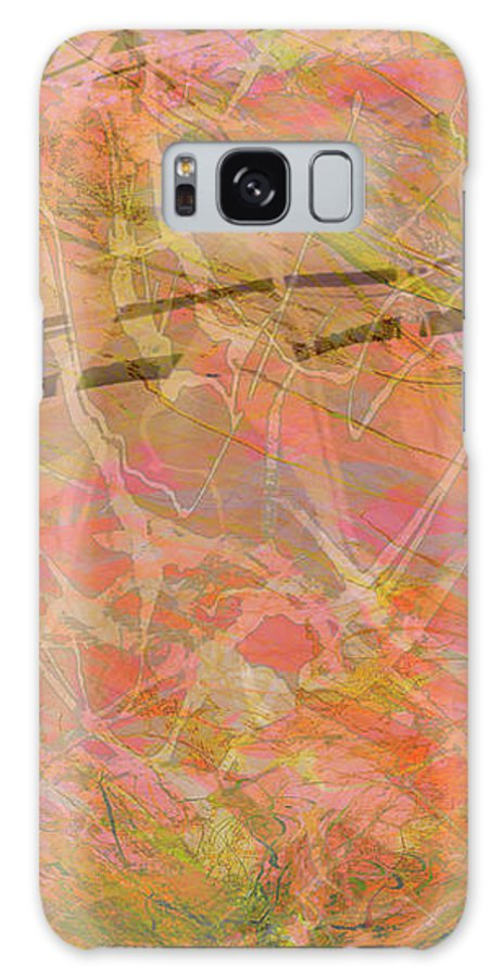 Abstract Galaxy S8 Case featuring the mixed media Edition 1 Double Wow by Kristin Doner