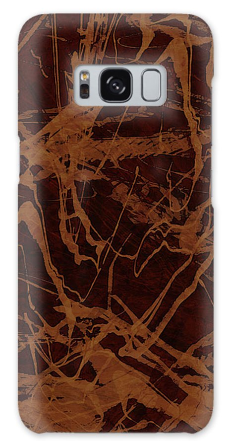 Abstract Galaxy S8 Case featuring the digital art Edition 1 Rust by Kristin Doner