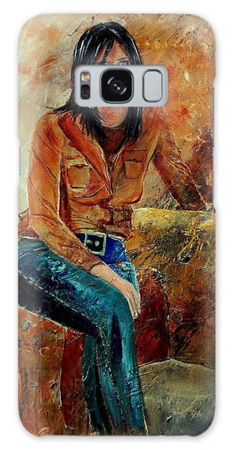 Girl Galaxy S8 Case featuring the painting Eglantine 57 by Pol Ledent