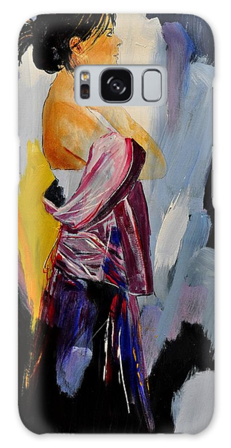 Girl Galaxy S8 Case featuring the painting Eglantine 570150 by Pol Ledent