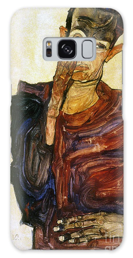 1910 Galaxy S8 Case featuring the photograph Egon Schiele (1890-1918) by Granger