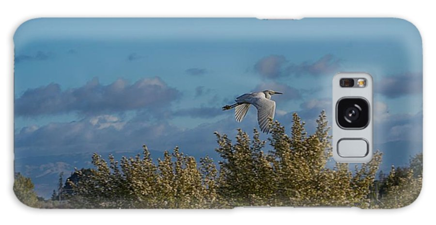 Nature Galaxy S8 Case featuring the photograph Egret In Flight by Enrico Croce