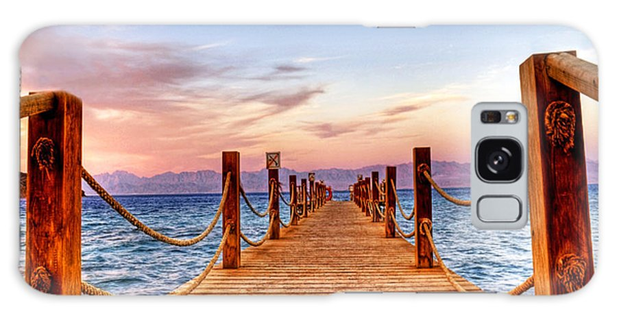 Taba Galaxy S8 Case featuring the photograph Egypt Red Sea Sunset by Chris Smith
