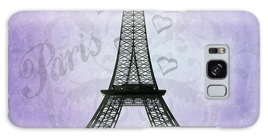 Eiffel Tower Galaxy S8 Case featuring the photograph Eiffel Tower Collage Purple by Jim And Emily Bush