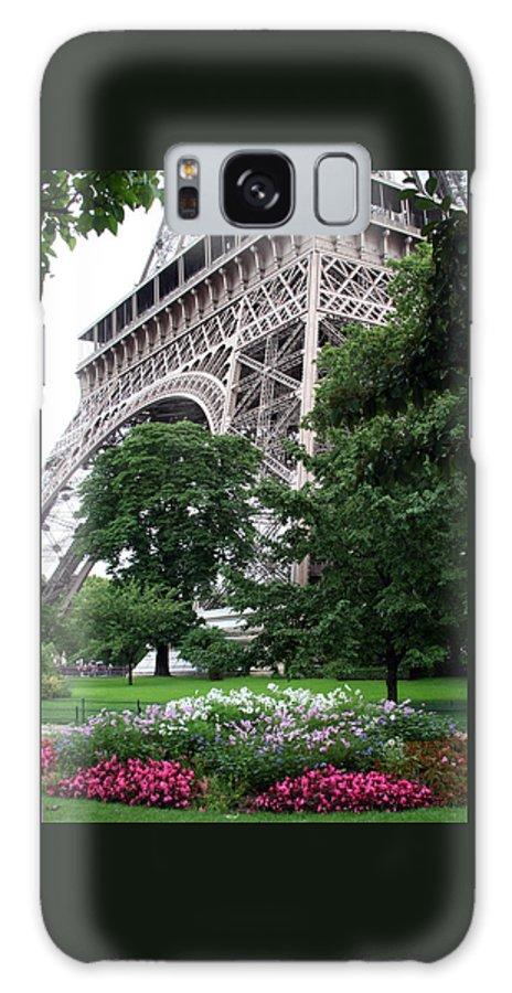 Eiffel Galaxy Case featuring the photograph Eiffel Tower Garden by Margie Wildblood