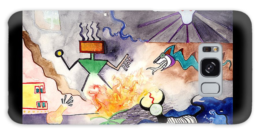 Brujo Galaxy S8 Case featuring the painting El Brujo by Joe Michelli