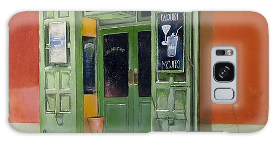 Hecho Galaxy Case featuring the painting El Hecho Pub by Tomas Castano