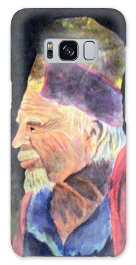 Elder Galaxy Case featuring the painting Elder by Susan Kubes