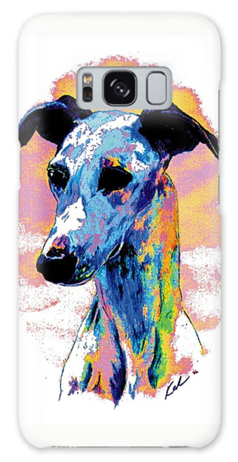 Electric Whippet Galaxy S8 Case featuring the digital art Electric Whippet by Kathleen Sepulveda