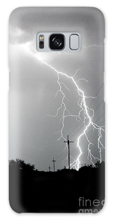 Lightning Galaxy S8 Case featuring the photograph Electricity Vs Electricity-signed by J L Woody Wooden