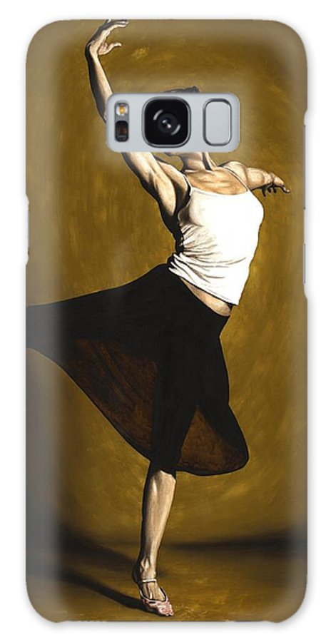 Elegant Galaxy S8 Case featuring the painting Elegant Dancer by Richard Young