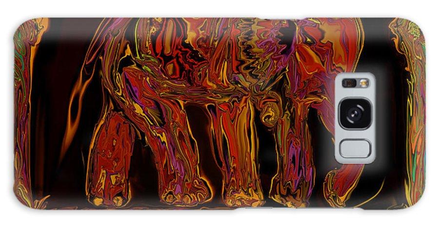 Animal Galaxy S8 Case featuring the digital art Elephant by Rabi Khan
