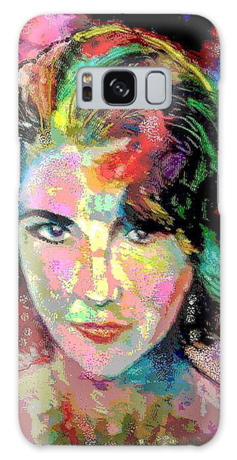 Oil Painting Galaxy S8 Case featuring the painting Elizabeth Taylor by Leland Castro