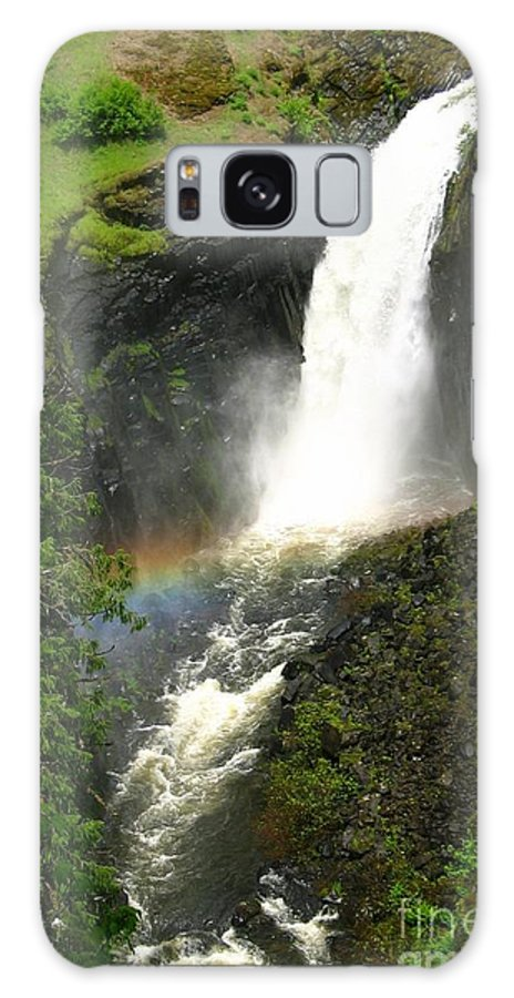 Rainbow Galaxy S8 Case featuring the photograph Elk Creek Falls Rainbow by Idaho Scenic Images Linda Lantzy