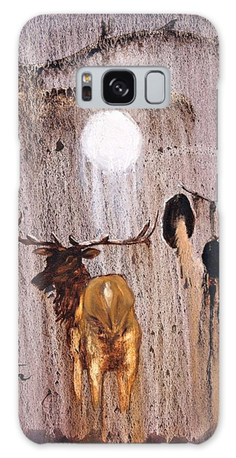 Native Art Galaxy Case featuring the painting Elk Spirit by Patrick Trotter