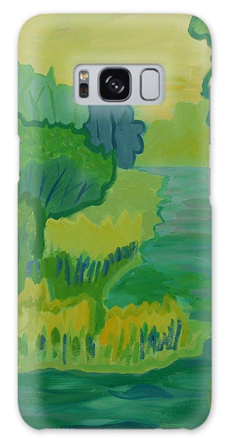 River Galaxy S8 Case featuring the painting Ellis River by Debra Bretton Robinson