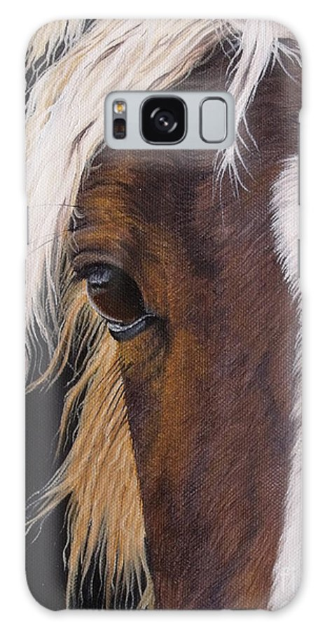 Portrait Galaxy S8 Case featuring the painting Ellroy by Pauline Sharp