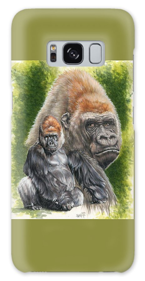 Gorilla Galaxy S8 Case featuring the mixed media Eloquent by Barbara Keith
