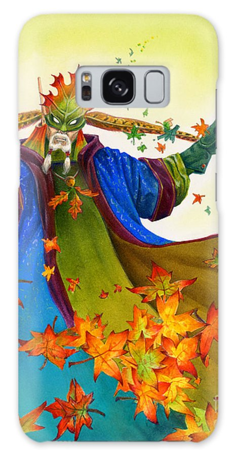 Elf Galaxy Case featuring the painting Elven Mage by Melissa A Benson