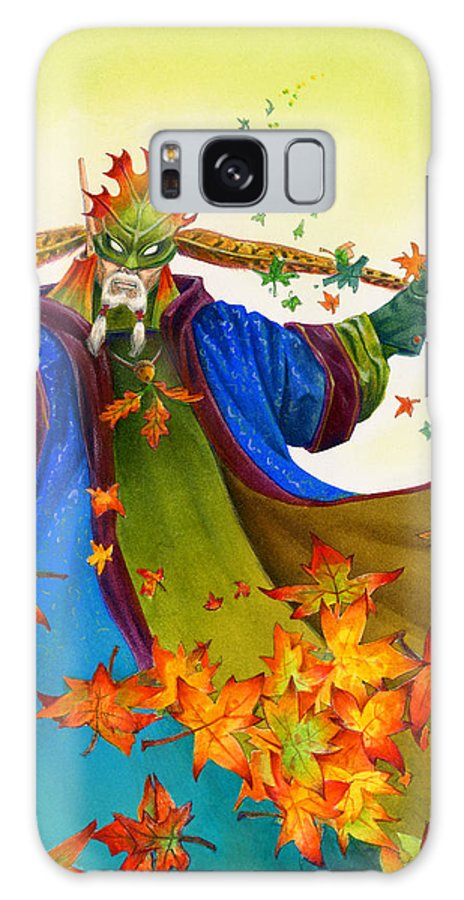 Elf Galaxy S8 Case featuring the painting Elven Mage by Melissa A Benson