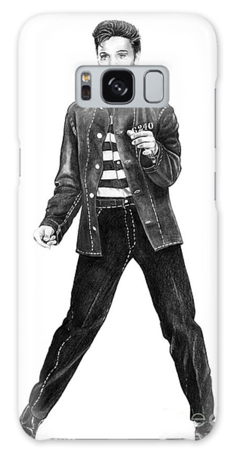 Elvis Galaxy S8 Case featuring the drawing Elvis Presley  by Murphy Elliott